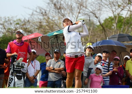 PATTAYA, THAILAND - March 2: sei young kim of South Korea plays the shot during four of the 2015 LPGA Thailand at Siam Country Club in Chonburi, Thailand on March 2, 2015.