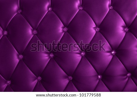 pattern and surface of luxury sofa leather with crystal buttons