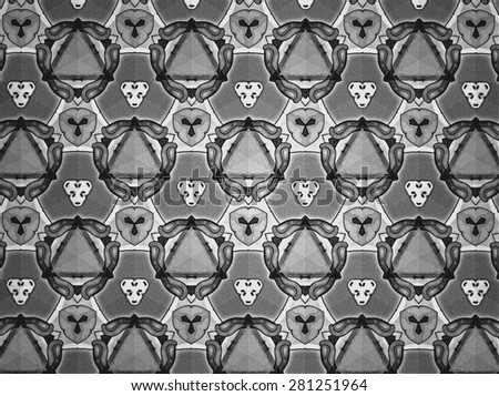 Pattern background black and white
