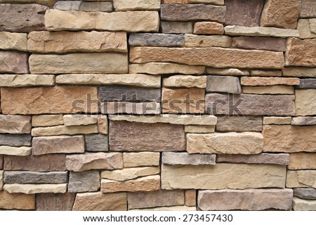Pattern background of Modern Brick Wall Surface - stock photo