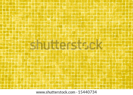 pattern, background or texture of a big yellow orange mosaic - stock photo