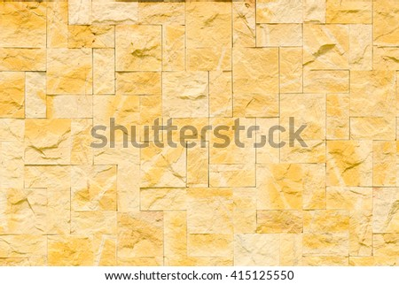 pattern color of modern style design decorative uneven cracked real stone wall surface with cement - stock photo