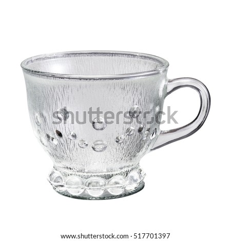 Pattern cup isolated on white background
