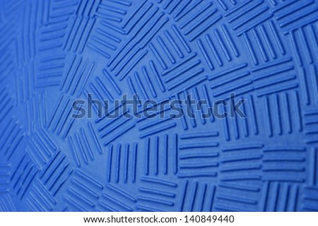Pattern Design of Blue Rubber Ball. - stock photo