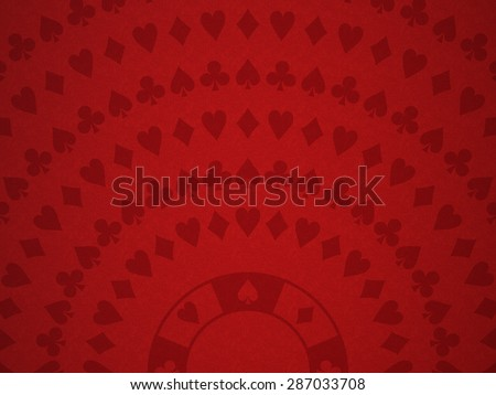 pattern for a casino on the red cloth - stock photo