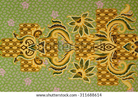 Pattern for traditional clothes include batik. - stock photo