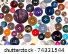 pattern from many different buttons - stock photo
