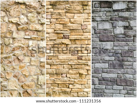 Stone Wall Design pattern gray color modern style design stock photo 111231356