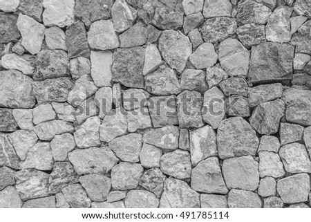 pattern gray color of modern style design decorative uneven cracked real stone wall surface with cement - Rock Wall Design