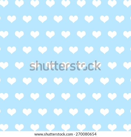pattern made with hearts - stock photo