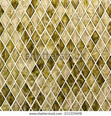 Pattern mosaic trapezoid style - stock photo