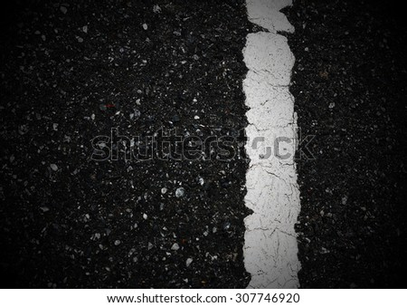 Pattern of asphalt texture with one line.