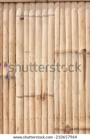 pattern of bamboo background in brown color  - stock photo
