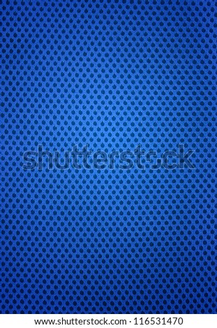pattern of blue jersey background - stock photo