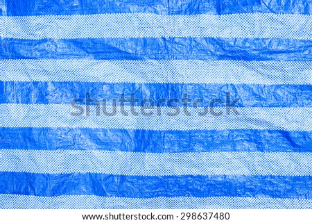 Pattern of Blue tarpaulin canvas background - stock photo