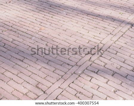 Pattern of brick tiles in a park at The Hague, Netheerlands, 2016 - stock photo