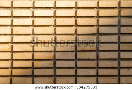 pattern of brick wall and contrast of light
