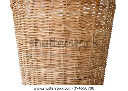 pattern of brown bamboo basketry in isolated - stock photo
