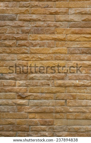 Pattern of brown Modern Brick Wall Surfaced for background