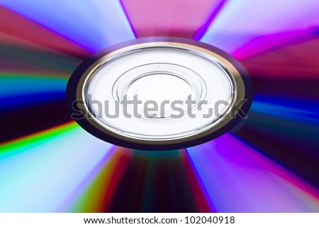 Pattern of cd/dvd disk over white - stock photo