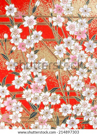Pattern of Cherry blossom on the book cover . Can use for background