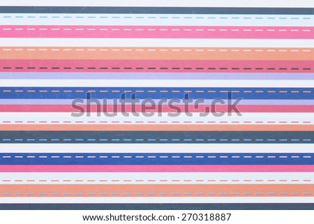 Pattern of colorful stripes on paper