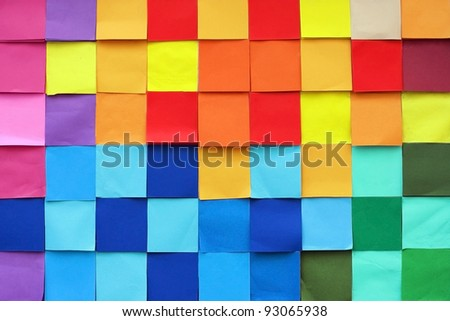 Pattern of Colorful wall - stock photo