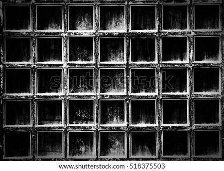 Pattern of glass block wall texture and background