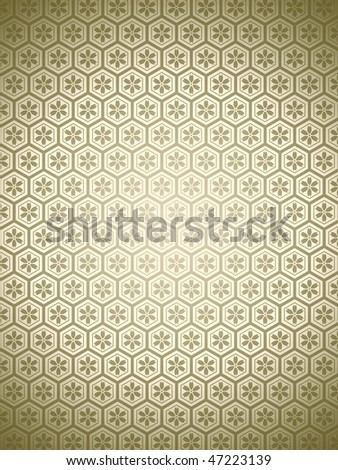 Pattern of gold background - Computational graphic