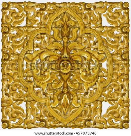 Pattern of gold Stucco flower