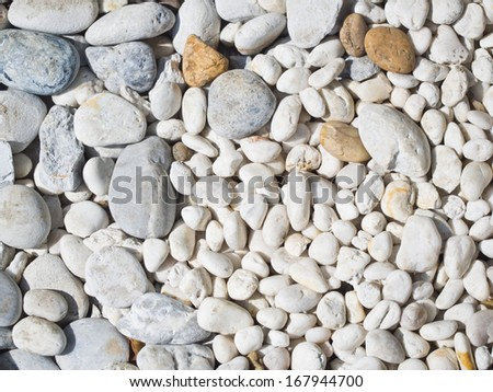 pattern of gravel stone background - stock photo
