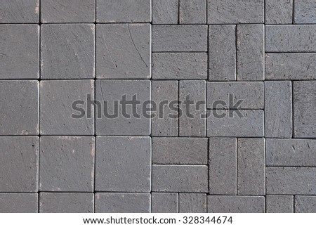 Pattern Of Gray Sidewalk Pavers. Beautiful Gray Ceramic Clinker Pavers For  Patioas A Textured Background
