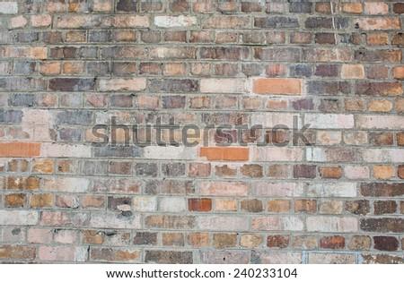 pattern of grunge brick wall - stock photo