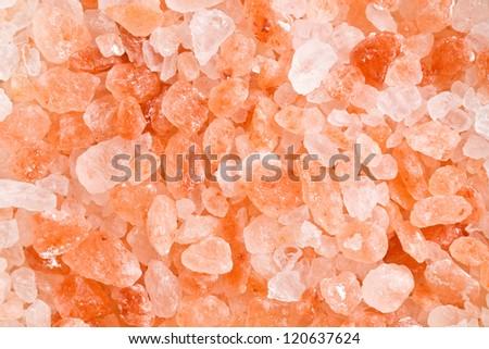 pattern of himalayan pink salt - stock photo