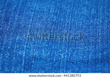 Pattern of jean background for creative work space, selective focus.