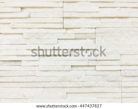 Pattern of Modern stone Brick Wall Surfaced for background.