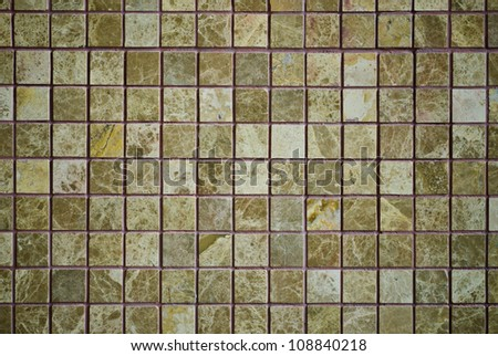 pattern of Mosaic on a decorate wall - stock photo