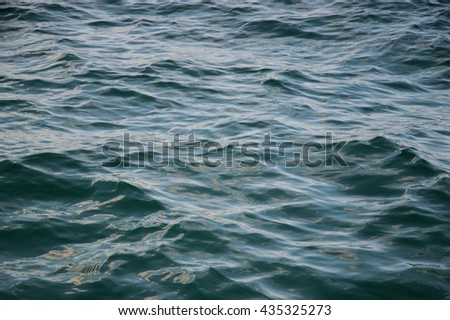 pattern of motion blur sea surface in dark light (low key picture)