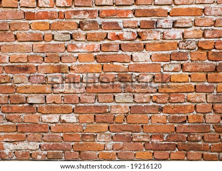 Pattern of old brick wall usable for background and wallpapers