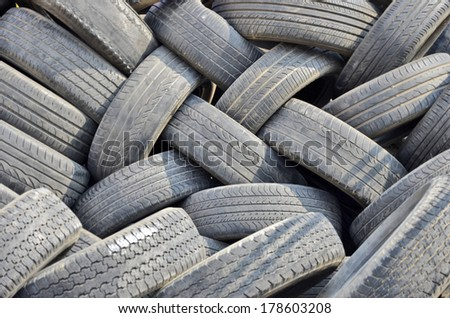 Pattern of old tires textures - stock photo