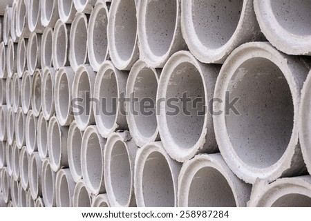 Pattern of pipe of cement for building trade - stock photo
