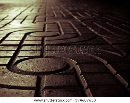 Pattern of sidewalk. Dark grey pattern street road. Sidewalk, pavement texture - stock photo