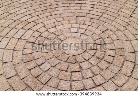 pattern of stone flooring in garden