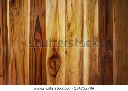 pattern of teak wood background - stock photo