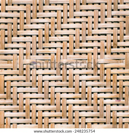 Pattern of Thai style natural bamboo handcraft texture background - stock photo