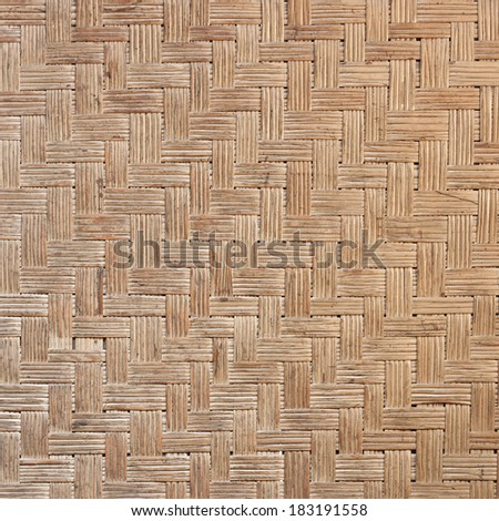 pattern of thai style wickerwork made from rattan