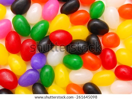 pattern of the jelly beans