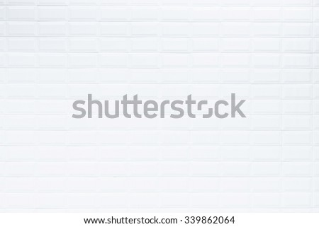 Pattern of white ceramic tile in bartroom wall, Texture and background - stock photo