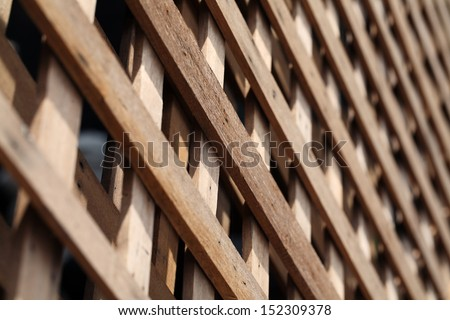 pattern of wooden fence.