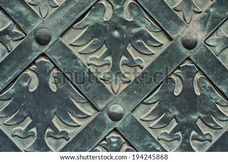 pattern old door. - stock photo